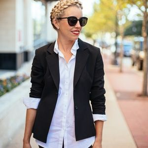 Express double weave black blazer